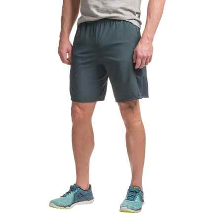 Hind Stretch-Woven Running Shorts - Built-In Briefs (For Men) in Dark Shadow - Closeouts