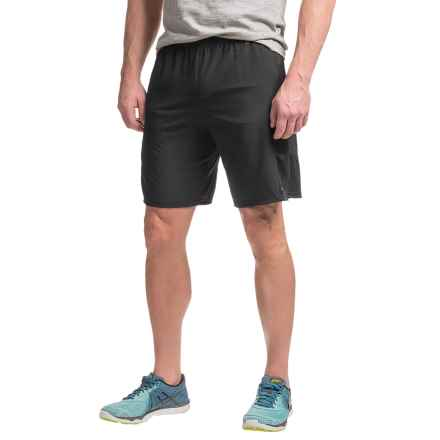 Hind Stretch-Woven Running Shorts - Built-In Briefs (For Men) in Rich Black - Closeouts