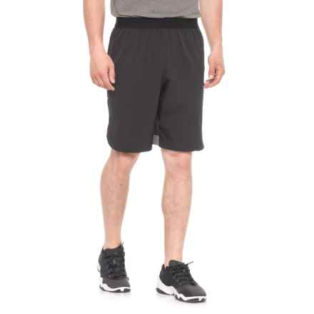 Hind Stretch-Woven Shorts - Built-In Briefs (For Men) in Black/Charcoal - Closeouts