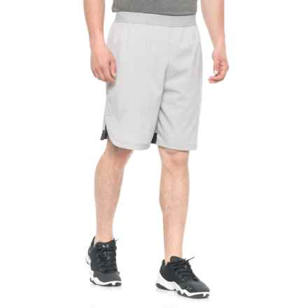 Hind Stretch-Woven Shorts - Built-In Briefs (For Men) in Charcoal/Black - Closeouts