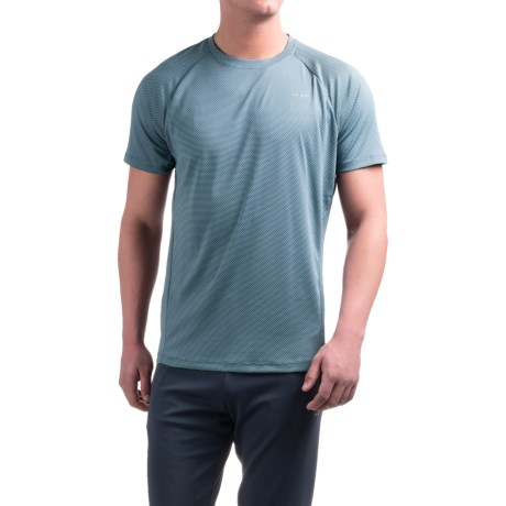 Hind Striped Bubble Shirt - Crew Neck, Short Sleeve (For Men) in Grey Mirage