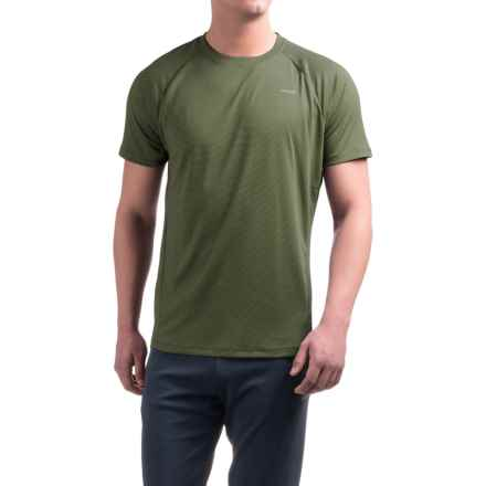 Hind Striped Bubble Shirt - Crew Neck, Short Sleeve (For Men) in Light Olive - Closeouts