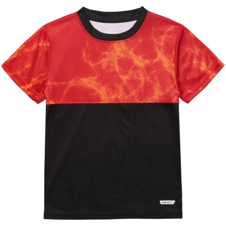 Hind Sublimation T-Shirt - Short Sleeve (For Big Boys) in Red/Orange/Black