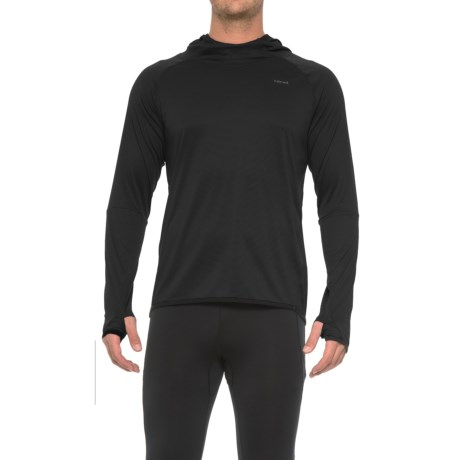 Hind Textured Wicking Hooded Shirt - Long Sleeve (For Men) in Black