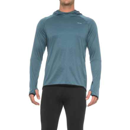 Hind Textured Wicking Hooded Shirt - Long Sleeve (For Men) in Blue Eclipse - Closeouts
