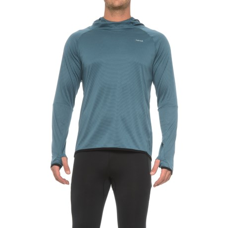 Hind Textured Wicking Hooded Shirt - Long Sleeve (For Men) in Blue Eclipse