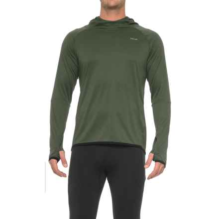 Hind Textured Wicking Hooded Shirt - Long Sleeve (For Men) in Light Olive - Closeouts