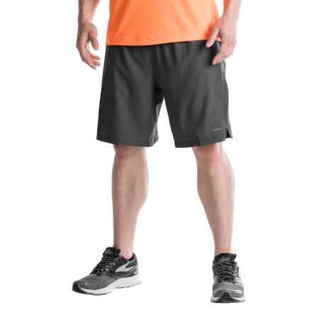Hind Two-Layer Stretch Shorts - Built-In Shorts (For Men) in Rich Black/Photo Blue - Closeouts
