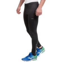 Hind Wind Blocker Running Tights (For Men) in Rich Black - Closeouts