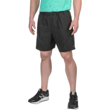 "Hind Woven Shorts - 7"" (For Men) in Rich Black Emboss - Closeouts"
