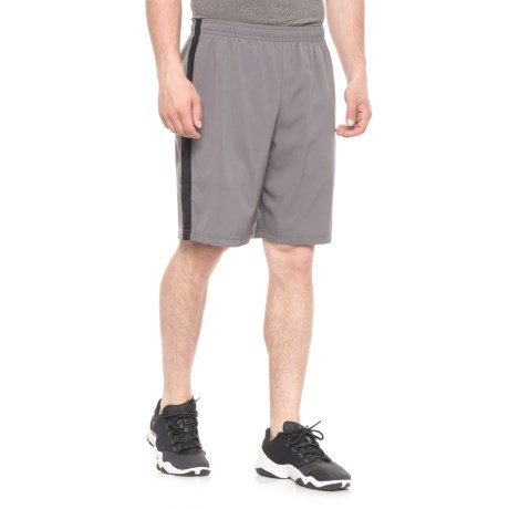 Hind Woven Stretch Canal Shorts (For Men) in Charcoal/Black