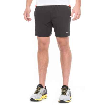 "Hind Woven Stretch Shorts - 7"", Built-In Brief (For Men) in Black/Grey - Closeouts"