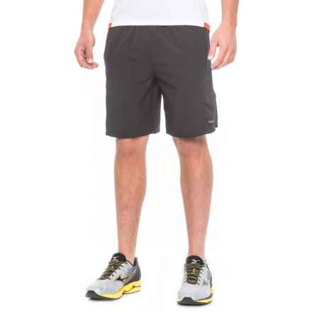 "Hind Woven Stretch Shorts - 9"", Built-In Brief (For Men) in Black - Closeouts"