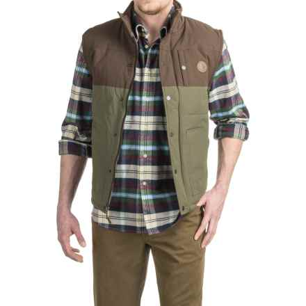 HippyTree Burro Vest - Flannel Lined (For Men) in Army - Closeouts