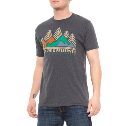 8bd5817fc33 HippyTree Conservation T-Shirt - Short Sleeve (For Men) in Heather Charcoal  -