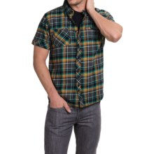 Hippytree Moab Flannel Shirt - Short Sleeve (For Men) in Charcoal - Closeouts