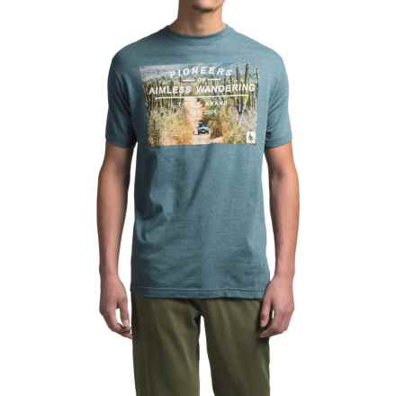 HippyTree Nomadic T-Shirt - Short Sleeve (For Men) in Heather Navy - Closeouts
