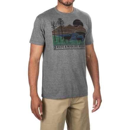 HippyTree Stag T-Shirt - Cotton Blend, Short Sleeve (For Men) in Heather Grey - Closeouts