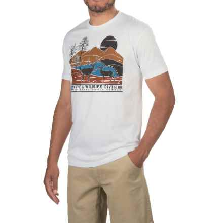 HippyTree Stag T-Shirt - Cotton Blend, Short Sleeve (For Men) in White - Closeouts