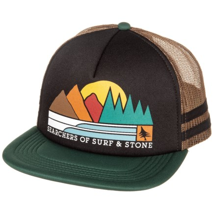 1cd368eb9b1 HippyTree Traveler Baseball Cap (For Men) in Black - Closeouts