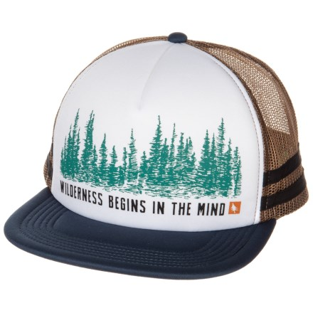 HippyTree Woodside Trucker Hat (For Men) in White - Closeouts e1ea0c88657c