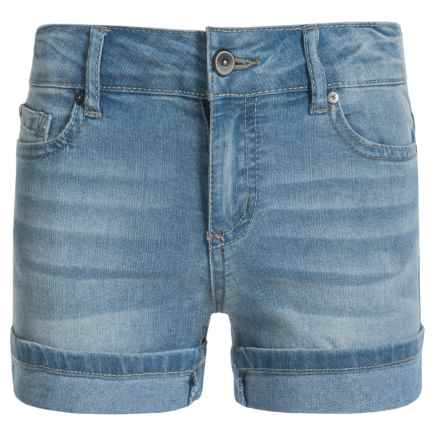 Hipster Cuffed Shorts (For Little Girls) in Vintage Lt - Closeouts