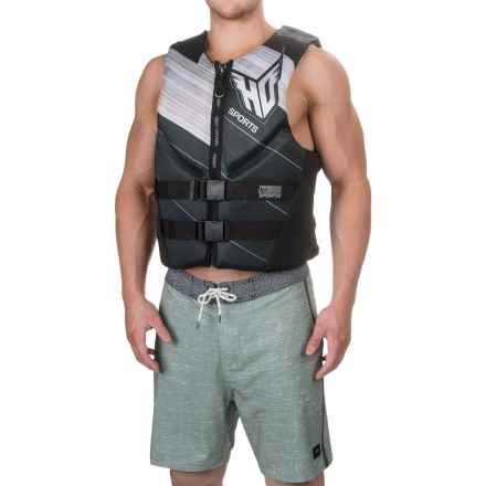 HO Sports Ergo Type III PFD Life Jacket (For Men) in Grey/Black - Closeouts