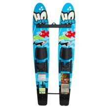 HO Sports Hot Shot Trainers Combo Set - Skis, Rope and DVD (For Little Kids) in Blue Graphic - Closeouts