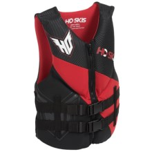 HO Sports Pursuit Neoprene Type III PFD Life Jacket in Black/Red - Closeouts