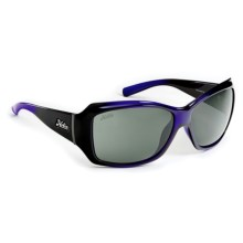 Hobie Ava Sunglasses - Polarized (For Women) in Shiny Black/Crystal Purple/Grey - Closeouts