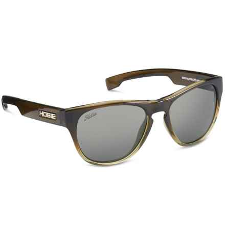Hobie Bondi Sunglasses - Polarized in Shiny Olive/Grey - Closeouts