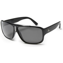 Hobie Brighton Sunglasses - Polarized in Shiny Black/Grey - Closeouts