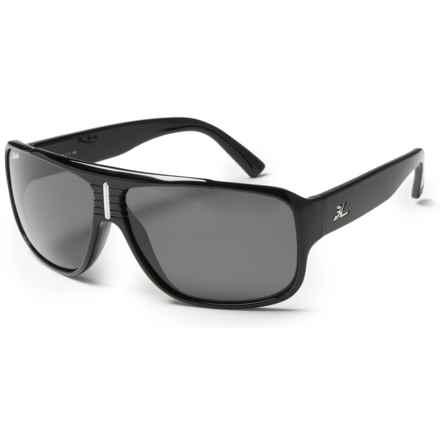 Hobie Brighton Sunglasses - Polarized in Shiny Black/Grey - Closeouts