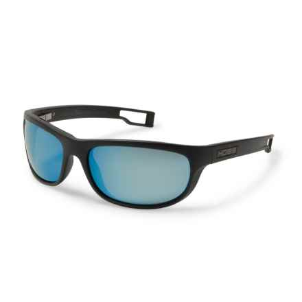 Hobie Cruz-R Sightmaster Sunglasses - Hydro Infinity Polarized Lenses in Satin Black/Grey/Cobalt Mirror - Closeouts