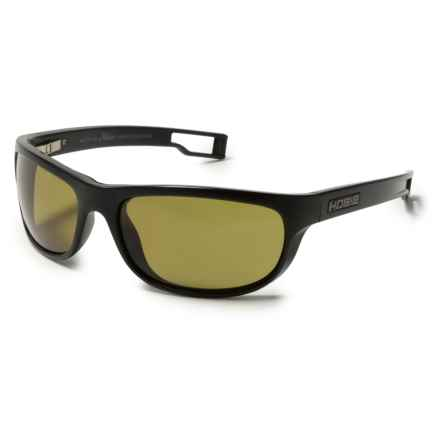 Hobie Cruz-R Sunglasses - Hydro Infinity Polarized Lenses in Satin Black/Grey/Cobalt Mirror - Closeouts