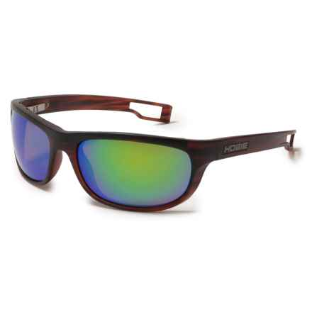 Hobie Cruz-R Sunglasses - Hydro Infinity Polarized Lenses in Satin Brown Wood Grain/Copper/Sea Green Mirror - Closeouts