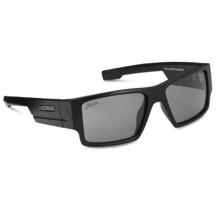 Hobie Dax Sunglasses - Polarized in Satin Black/Grey - Closeouts
