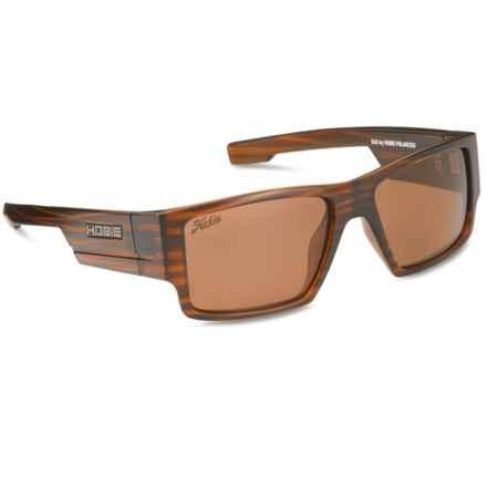 Hobie Dax Sunglasses - Polarized in Satin Brown Wood Grain/Copper - Closeouts