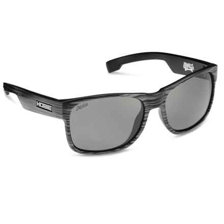 Hobie Dogpatch Sunglasses - Polarized in Satin Black Wood/Grey - Closeouts
