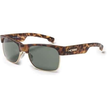 Hobie Doho Sunglasses - Polarized in Satin Leopard Tortoise/Satin Gold/Grey - Closeouts