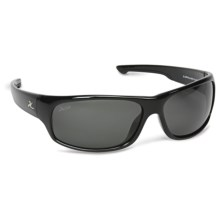 Hobie El Capitan Sunglasses - Polarized in Shiny Black/Grey - Closeouts