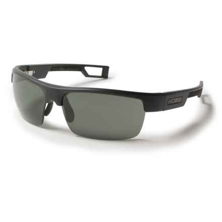 Hobie Manta Sunglasses - Hydro Infinity Polarized Lenses in Satin Black/Grey - Closeouts