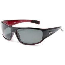 Hobie Mission Sunglasses - Polarized in Shiny Black/Crystal Red/Grey - Closeouts