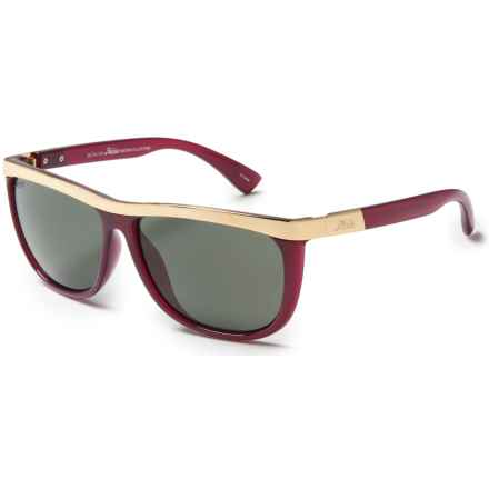 Hobie Naomi Sunglasses - Polarized in Shiny Ruby/Light Gold/Grey - Closeouts