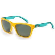 Hobie Woody Sunglasses - Polarized in Neon Yellow/Neon Blue - Closeouts