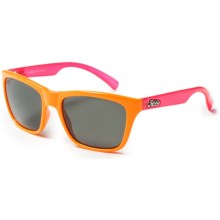 Hobie Woody Sunglasses - Polarized in Neow Orange/Neon Fuschia/Grey - Closeouts