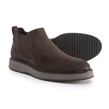 HOGAN Made in Italy Chelsea Boots (For Men) in Dark Seal