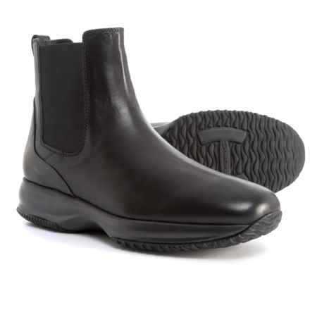 HOGAN Made in Italy Tall Chelsea Boots - Leather (For Men) in Black - Closeouts