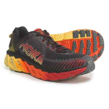 Hoka One One Arahi Running Shoes (For Men) in Black/Formula One - Closeouts