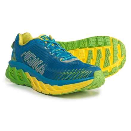Hoka One One Arahi Running Shoes (For Men) in Blue Aster/Blazing Yellow - Closeouts